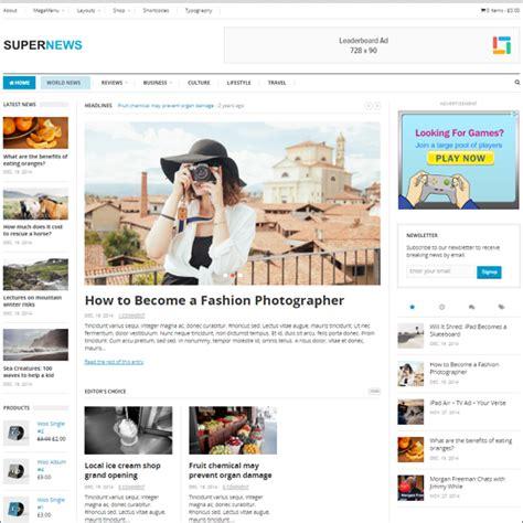 supernews theme junkie 20 online newspaper wordpress themes for 2018