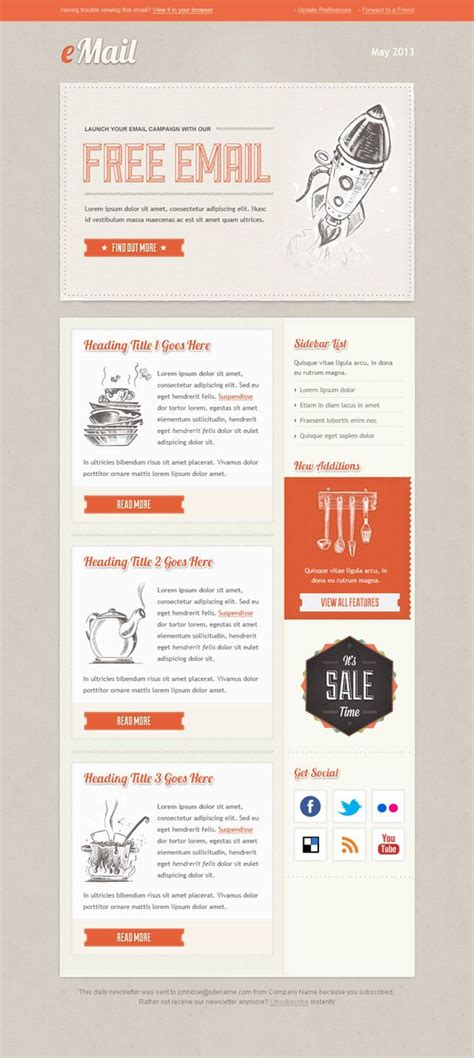 html layout in email best 25 newsletter template free ideas on pinterest
