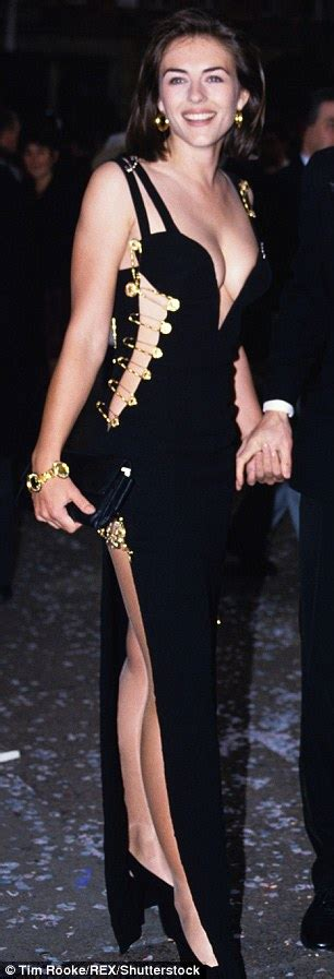 Buy Elizabeth Hurleys Safety Pin Versace Dress by Elizabeth Hurley Gushes S Look A