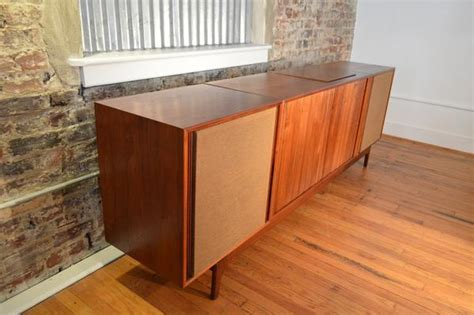 danish modern stereo cabinet barzilay danish modern stereo console with electro voice
