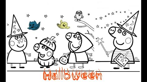 peppa pig halloween coloring pages peppa pig halloween colouring pages halloween peppa pig