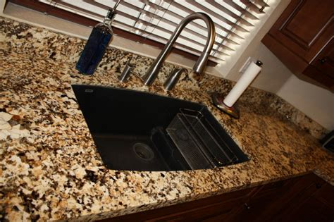 granite countertop undermount sink traditional