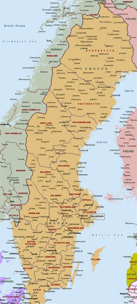sweden on a map map of sweden kingdom of sweden maps mapsof net