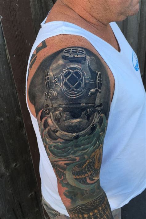diving helmet tattoo 8 best diver images on diver