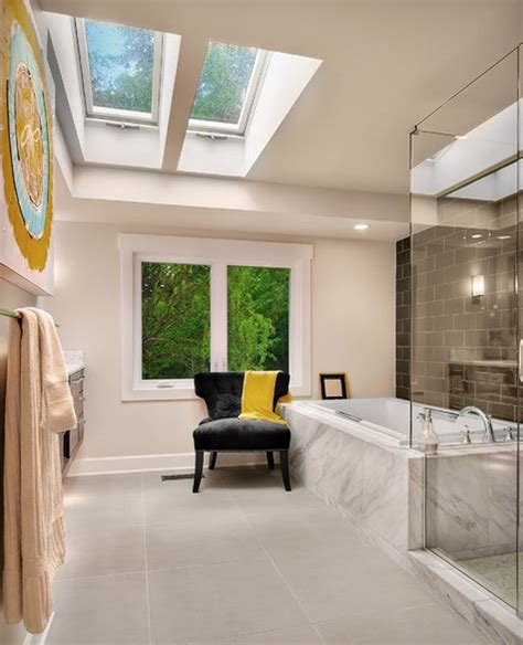 Ceiling Windows Skylights by Six Stunning Uses Of Skylights In Bathrooms