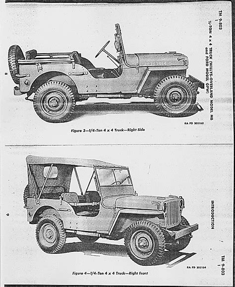 army jeep drawing willys mb ford gpw 1 4 ton 4x4 army jeep