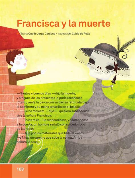 libro muerte y juicio spanish francisca y la muerte espa 241 ol lecturas 3ro apoyo primaria