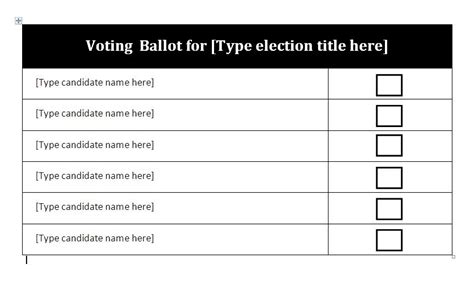 election ballot template for word election ballot template word the letter sle