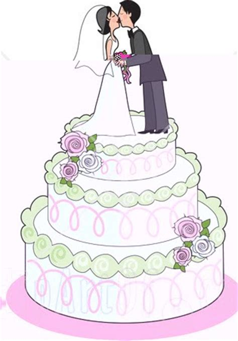 Wedding Cake Clip by Tela S Clipart Illustration Of A Loving