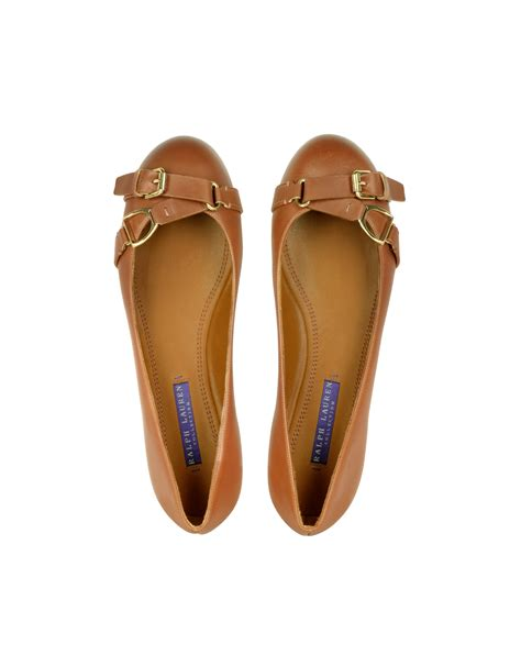 ralph flat shoes ralph collection umina burnished calf leather