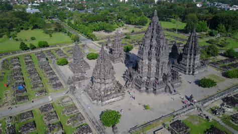 Drone Yogyakarta yogyakarta indonesia april 2017 drone of landmark building prambanan hindu temple in