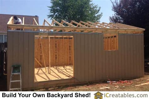 large backyard shed  icreatablescom shed plans