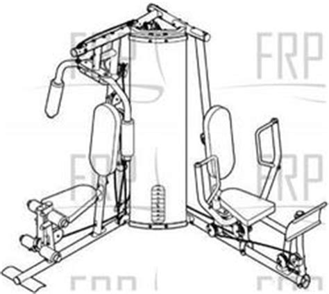 Weider Home Replacement Parts Weider Pro 4250 831 154020 Fitness And Exercise