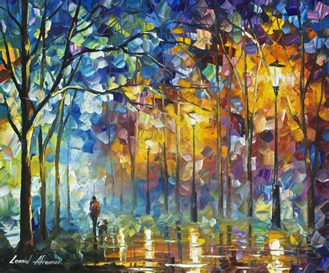 famous wall paintings friends forever palette knife oil painting wall art