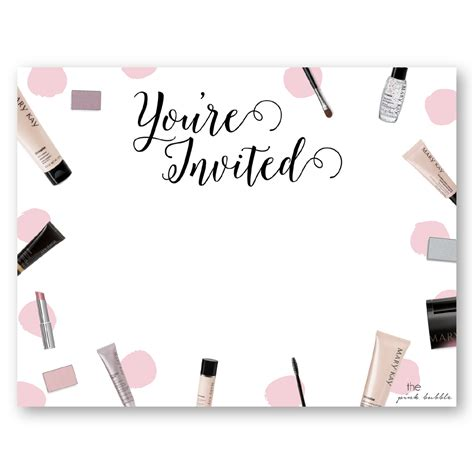 mary kay party invite cimvitation