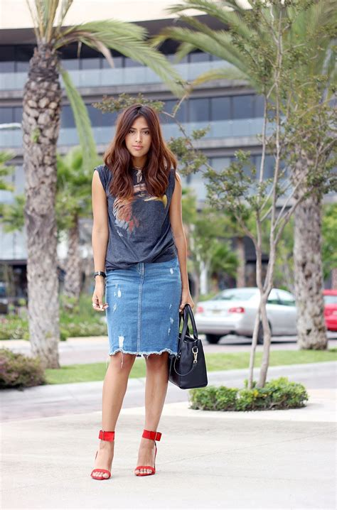 16 fresh takes on the denim skirt 2018 fashiongum