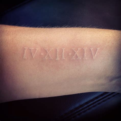 roman numeral ring tattoo numeral wedding date in white style me