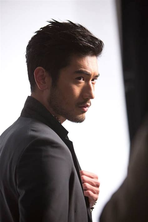 godfrey gao side profile medium hairstyles to make you look younger