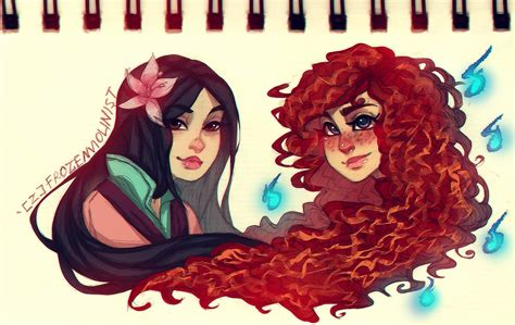 Mulan and Merida: Concept Art by FROZENVIOLINIST on DeviantArt