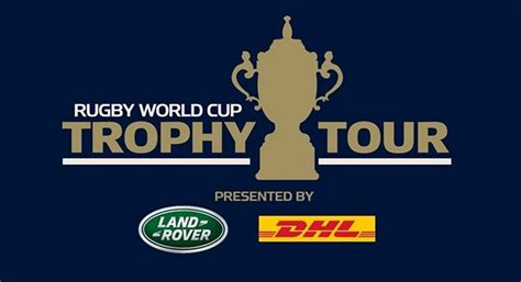 land rover presenting partner  rugby world cup trophy