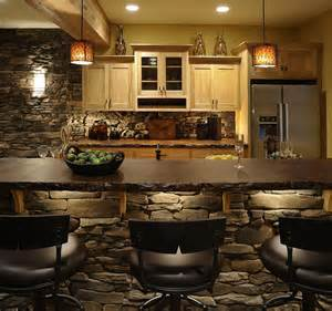 Stone Kitchen Island 30 Inventive Kitchens With Stone Walls