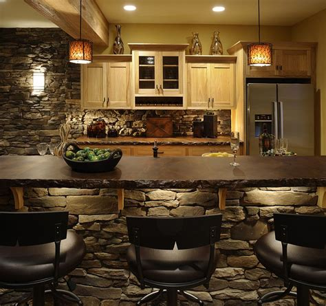 stone kitchen islands 30 inventive kitchens with stone walls