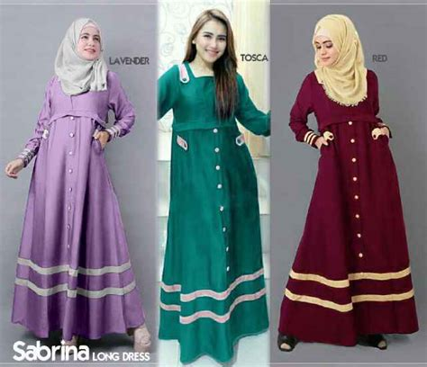 Gamis Anak Remaja 2016 gamis remaja sabrina b067 katun model baju muslim terbaru