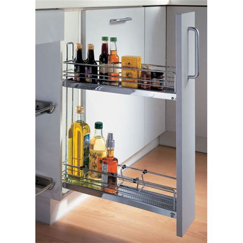 kitchen cabinet pull out storage kitchen or bath 2 tier base cabinet pull out organizer w
