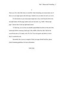 how to format a novel manuscript writing academy