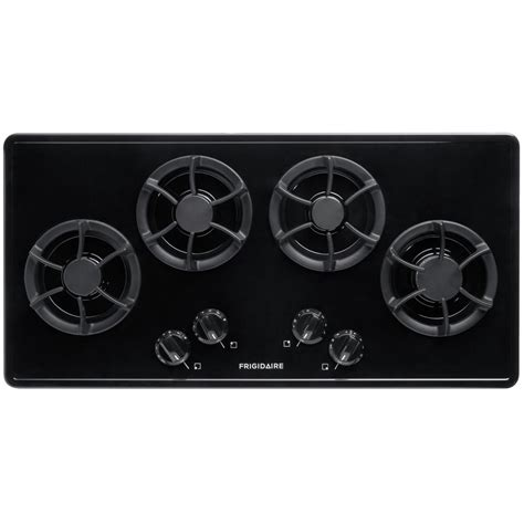 black gas cooktops frigidaire 36 in recessed gas cooktop in black with 4
