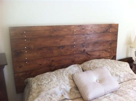 rustic stained pine headboard  boltandtimber  etsy