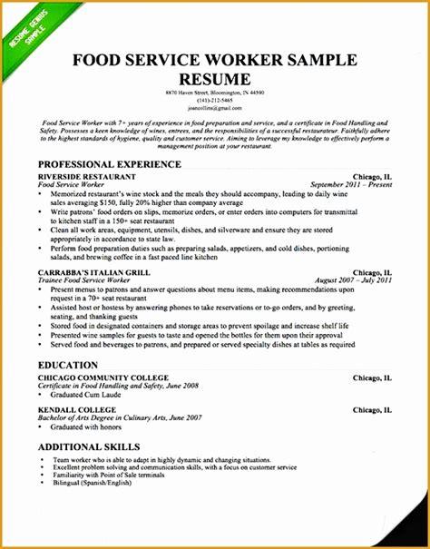 5 server experience resume free sles exles