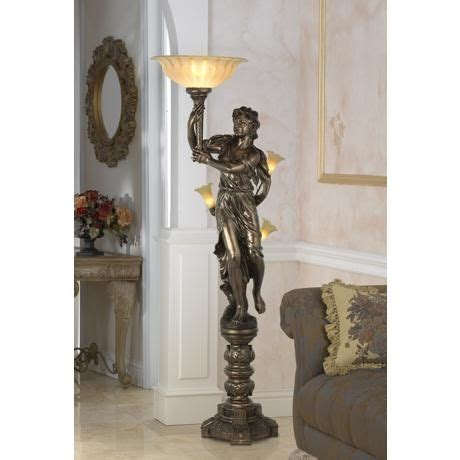 Floor Statues by Bronze Maiden Statue Torchiere Floor L