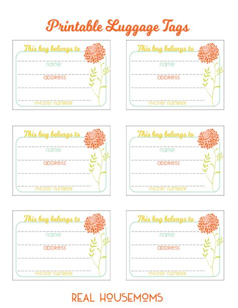 printable luggage tags pdf printable luggage tags real housemoms