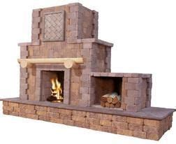 Menards Outdoor Fireplace by Looking Outdoor Fireplace Cantwell Fireplace With