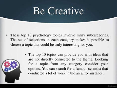 Top 10 Essay Topics by Top 10 Psychology Research Paper Topics