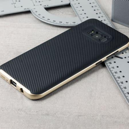 Carbon Fiber Samsung S8 by Olixar X Duo Samsung Galaxy S8 Carbon Fibre Gold