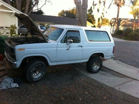 how do cars engines work 1985 ford bronco on board diagnostic system buy used 1985 ford bronco xlt 4x4 rebuilt 5 8 v8 engine low mileage in santa barbara california