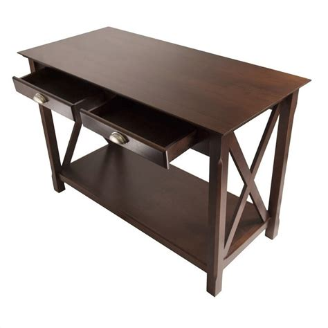 L Tables With Drawers by Console Table With 2 Drawers In Cappuccino Finish 40544