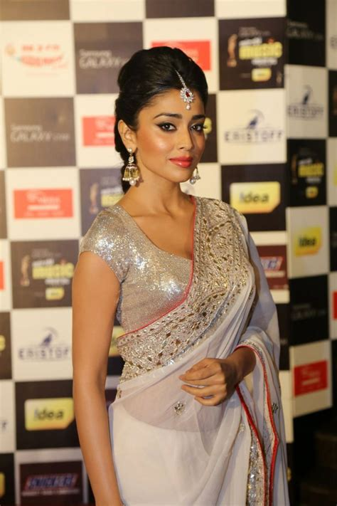 shriya sareeblousefashioncom shriya saran in white saree everything indian pinterest