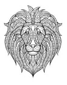 animals coloring pages adults coloring lion head 5 image animals coloring