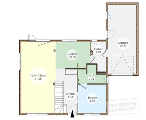 Plan Maison Plain Pied 50m2 Maison Ossature Bois Projet plan de maison ossature bois plain pied 28 images