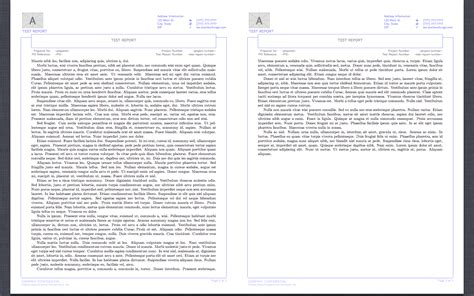header footer   Reproduction of Word Report Template in