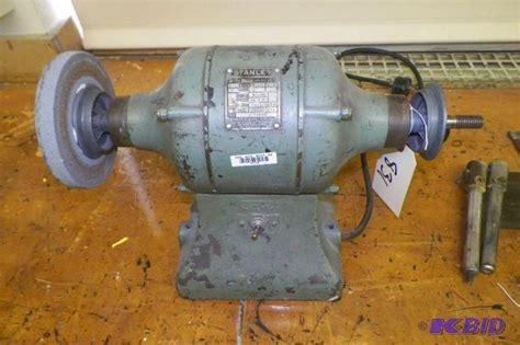 old bench grinder old stanley model 557 bench grinder works fine 1 2 hp new ulm schools part 2 k bid