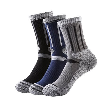 men winter skiing socks outdoor snowboarding socks hiking