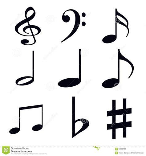 imagenes siluetas musicales siluetas de s 237 mbolos musicales en un fondo blanco stock de