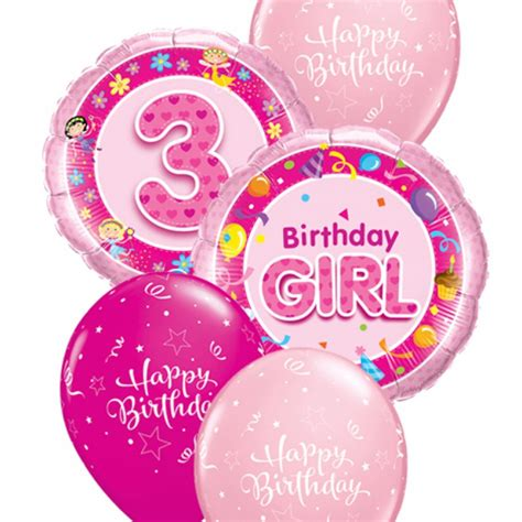 Happy 3rd Birthday Quotes For My Girls 3rd Birthday Balloon Bouquet Party Fever