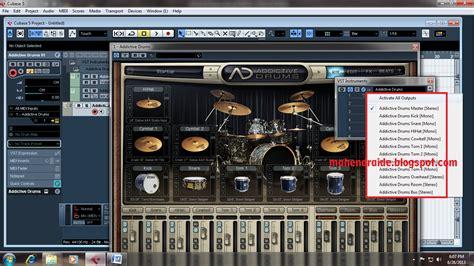 tutorial addictive drum nuendo mahendraide merekam addictive drum di cubase 5