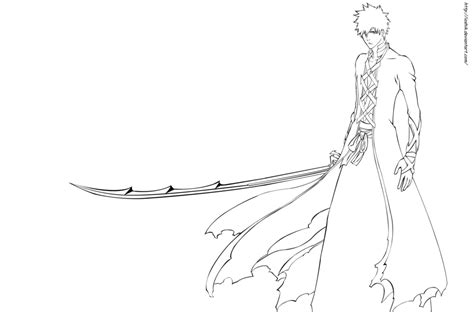 bleach anime coloring pages coloring home