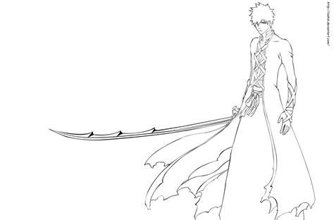 ichigo bankai coloring pages